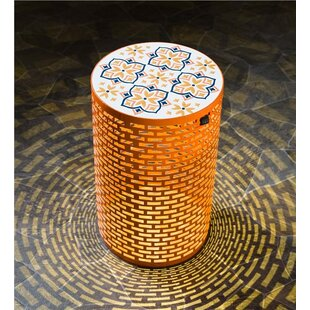 Lighted Metal Side Table by Plow & Hearth #2