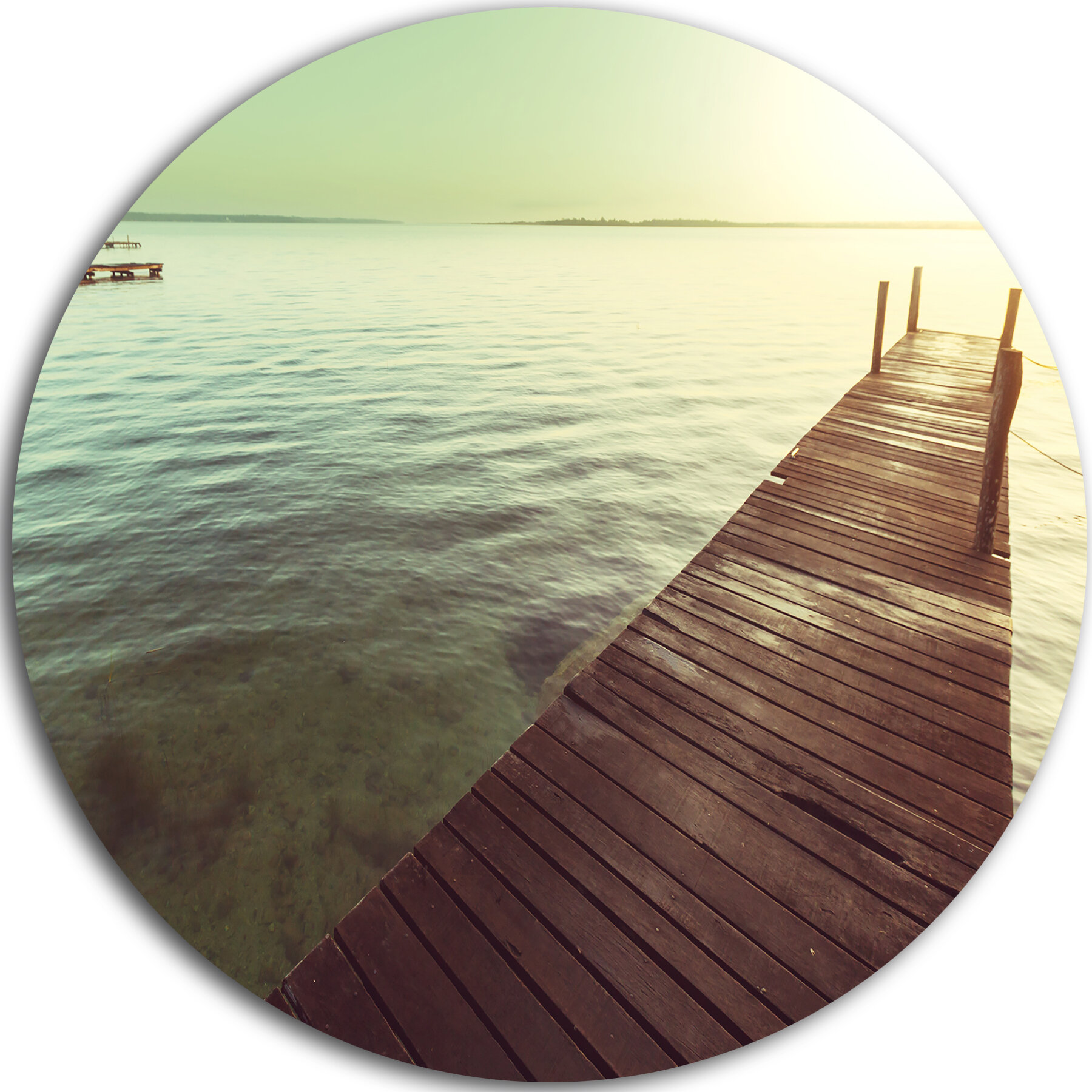 how to put an accent over a letter designart wooden boardwalk clear waters 10803 | 'Wooden Boardwalk over Clear Waters' Photographic Print on Metal