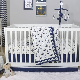 Best Price Sail Away 4 Piece Crib Bedding Set By The Peanut Shell