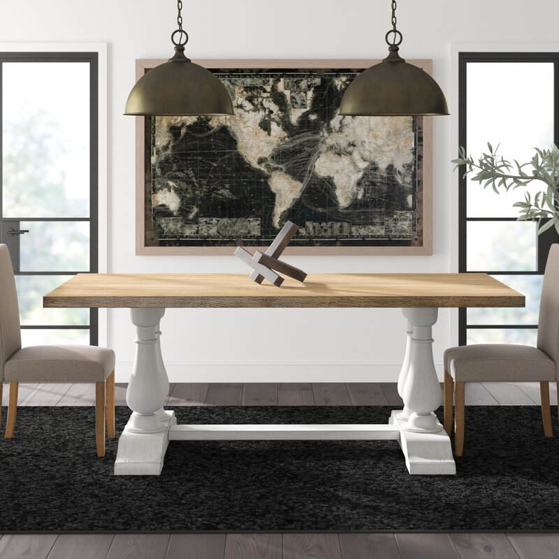 Greyleigh Cairo Pedestal Solid Wood Dining Table Wayfair