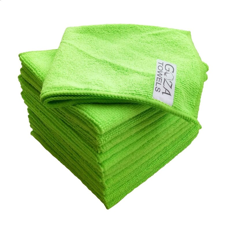 AG Gapital Goza 12 Pieces in Set Washcloth Towel Set  Finish: Green