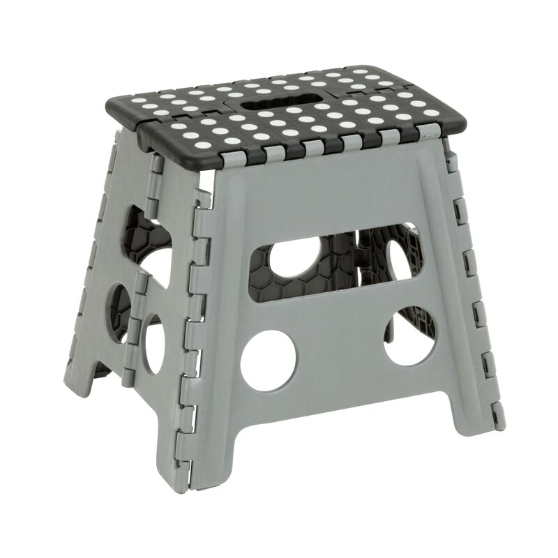1-Step Plastic Folding Step Stool  sc 1 st  Wayfair : black plastic step stool - islam-shia.org