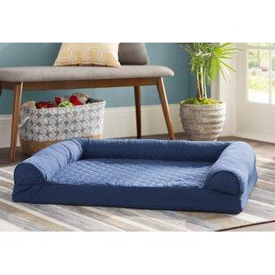 Beasleys Couch Dog Bed Microsuede Sage /& Beige Polar Fleece