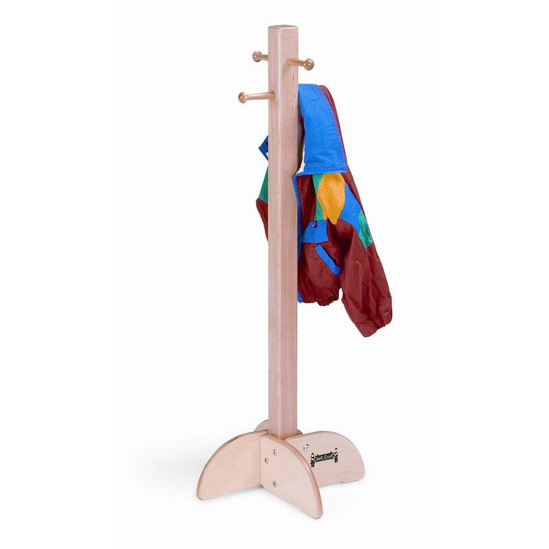 Jonti Craft Wood 4 Hook Freestanding Coat Rack Wayfair