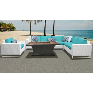Miami 8 Piece Sectional Seating Group With Cushions by TK Classics Cool