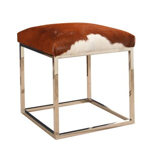 Luper Stainless Steel Leather Ottoman by Brayden Studio