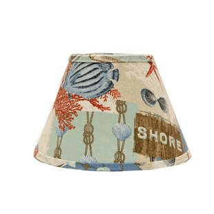 Nautical Patchwork 6 Linen Empire Lamp Shade