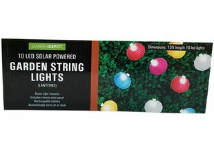 Solar Powered Garden Lantern 10 Light Novelty String Lights