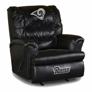 NFL Leather Manual Rocker Recliner