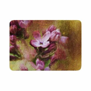 Ginkelmier Lilacs Floral Memory Foam Bath Rug by East Urban Home New Design