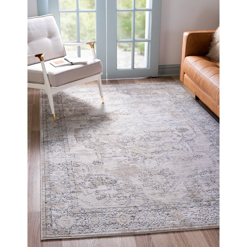 Bungalow Rose Freddy Oriental Ivory Area Rug Reviews Wayfair