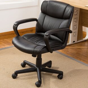 Computer Padded Armrest Mid Back Office Desk Chair