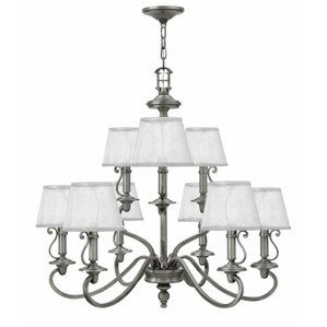 Plymouth 9 Light Shaded Chandelier