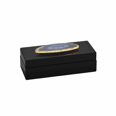 Bungalow Rose Agate Lacquered Accessory Box