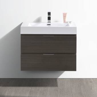 Wrought Studio Bourdeau 35 Single Bathroom Vanity Set Reviews Wayfair
