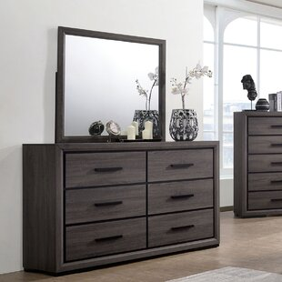 Drummond 6 Drawer Double Dresser with Mirror by Enitial Lab