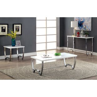 Everly Quinn Aguayo 3 Piece Coffee Table Set