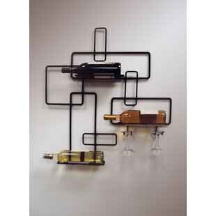 3 Bottle Wall Mounted Wine Rack by J & J ..
