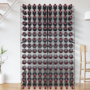 Moshier Freestanding 150 Bottle Floor Wine Rack