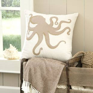 Amesbury Octopus Embellished Pillow Cover