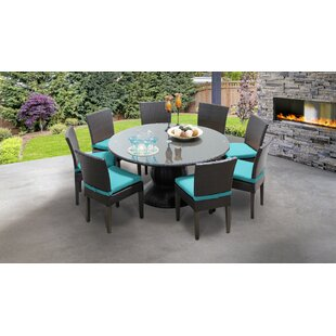 Meier Outdoor 9 Piece Dining Set with Cushions