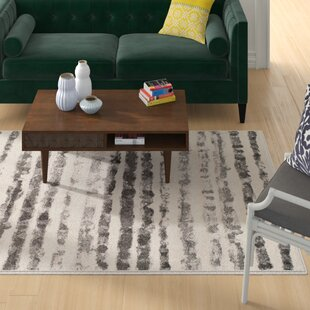 Seaport Ivory/Charcoal Area Rug by Wrought Studio