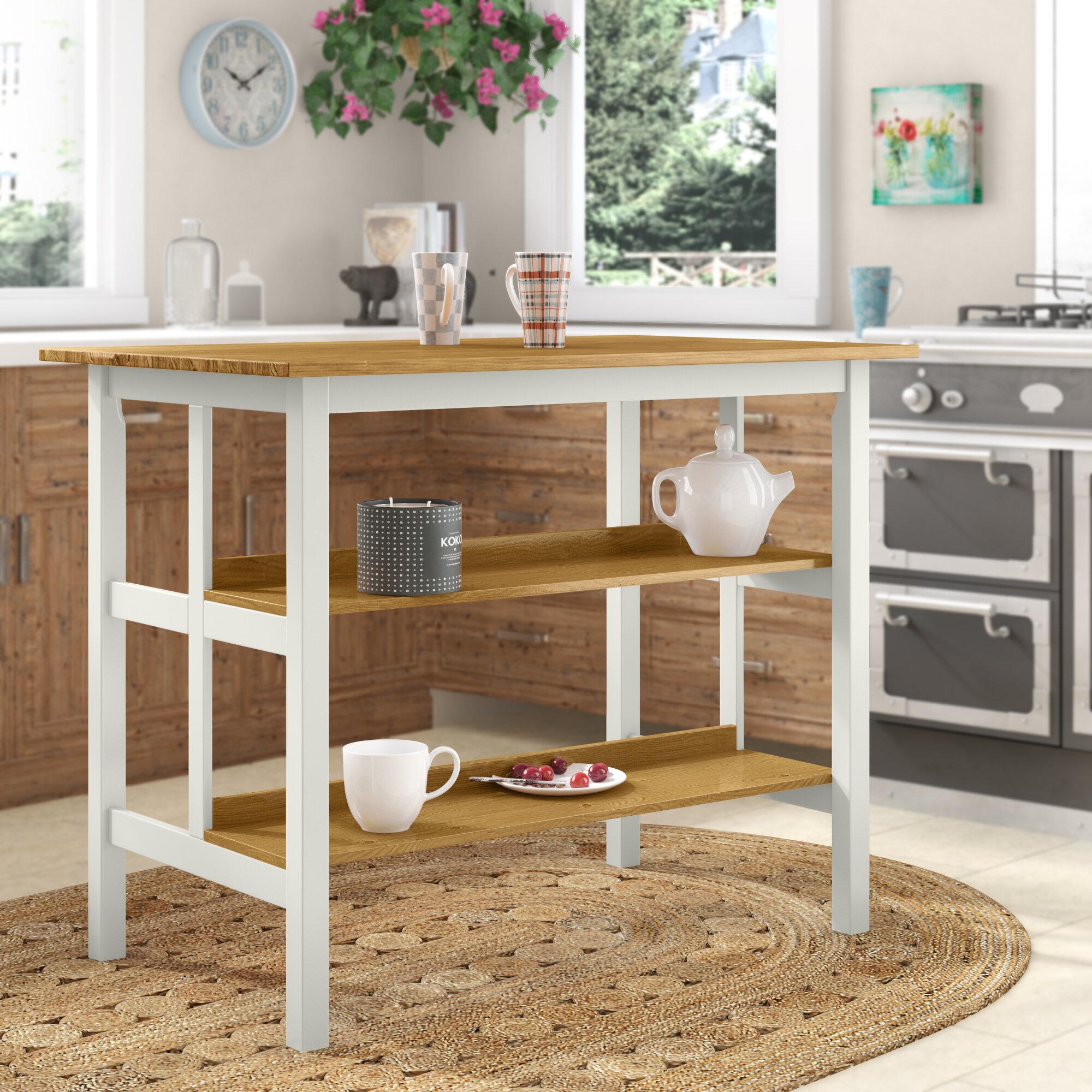 August Grove Stetler 45 Solid Wood Prep Table Reviews Wayfair Ca
