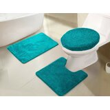 Maisy Circle Polyester Non-Slip Solid Bath Rug Set