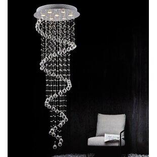 CWI Lighting Spiral 7-Light Flush Mount