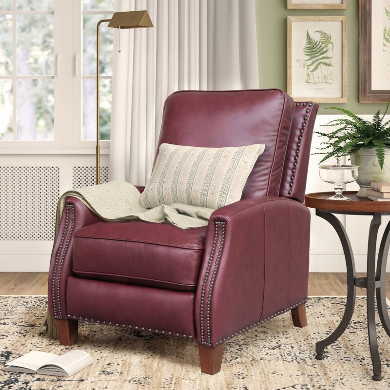 """Dayse 31"""" Wide Genuine Leather Manual Standard Recliner"""