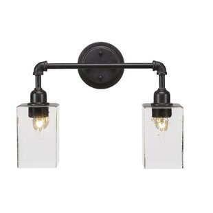 Williston Forge Torpoint Vintage 2-Light Vanity Light