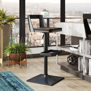 Flagler Adjustable Height Swivel Bar Stool