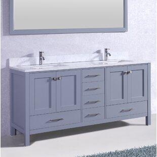 Pichardo Contemporary 72 Double Bathroom Vanity Set by Brayden Studio