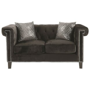 Cherry Contemporary Loveseat by Mercer41