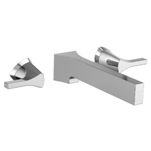 zura double handle wall mount bathroom faucet