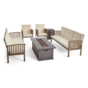 Brice Outdoor 6 Piece Sofa Seating Group with Cushions by Longshore Tides