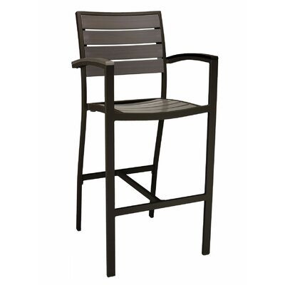 Fine 30 Patio Bar Stool Florida Seating Frame Finish Dark Black Andrewgaddart Wooden Chair Designs For Living Room Andrewgaddartcom