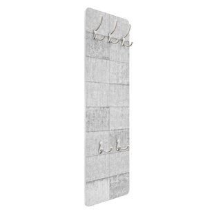 Grey Tile Look Concrete Wall Mounted Coat Rack By Symple Stuff