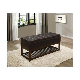 Nora Lift-up Faux Leather Storage Bench by