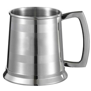 Dual Beer Glass 16 oz. Stainless Steel