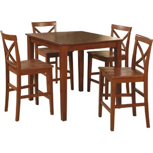 Duffey 5 Piece Counter Height Pub Table Set