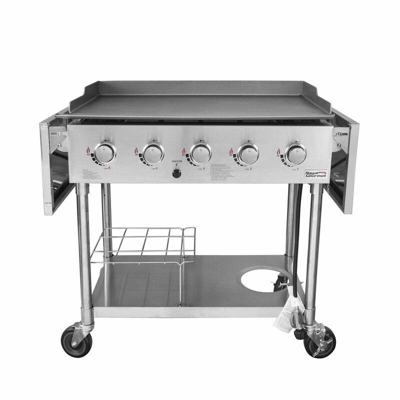 Royal Gourmet 5-Burner Flat Top Propane Gas Grill ...
