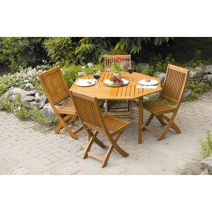 Highland Dunes Freida 5 Piece Dining Set
