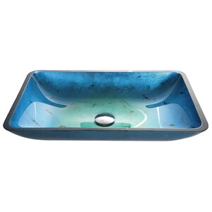 Galaxy Glass Rectangular Vessel Bathroom Sink