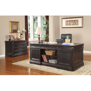 Gunnersbury Executive Desk and File Wall by Astoria Grand
