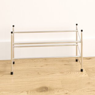 Chrome 2-Tier Extendable Shoe Rack By Symple Stuff
