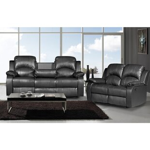 Latitude Run Willian Reclining 2 Piece Leather Living Room Set