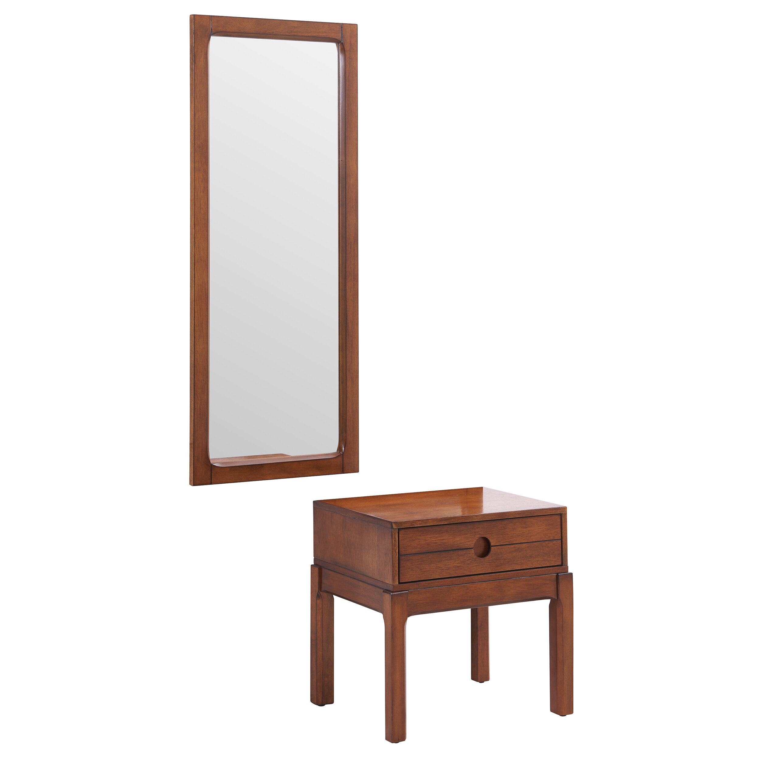 Millwood Pines Ciara End Table With Mirror Wayfair