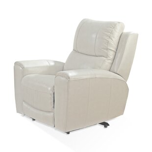 Palmateer Leather Power Recliner by Red Barrel Studio