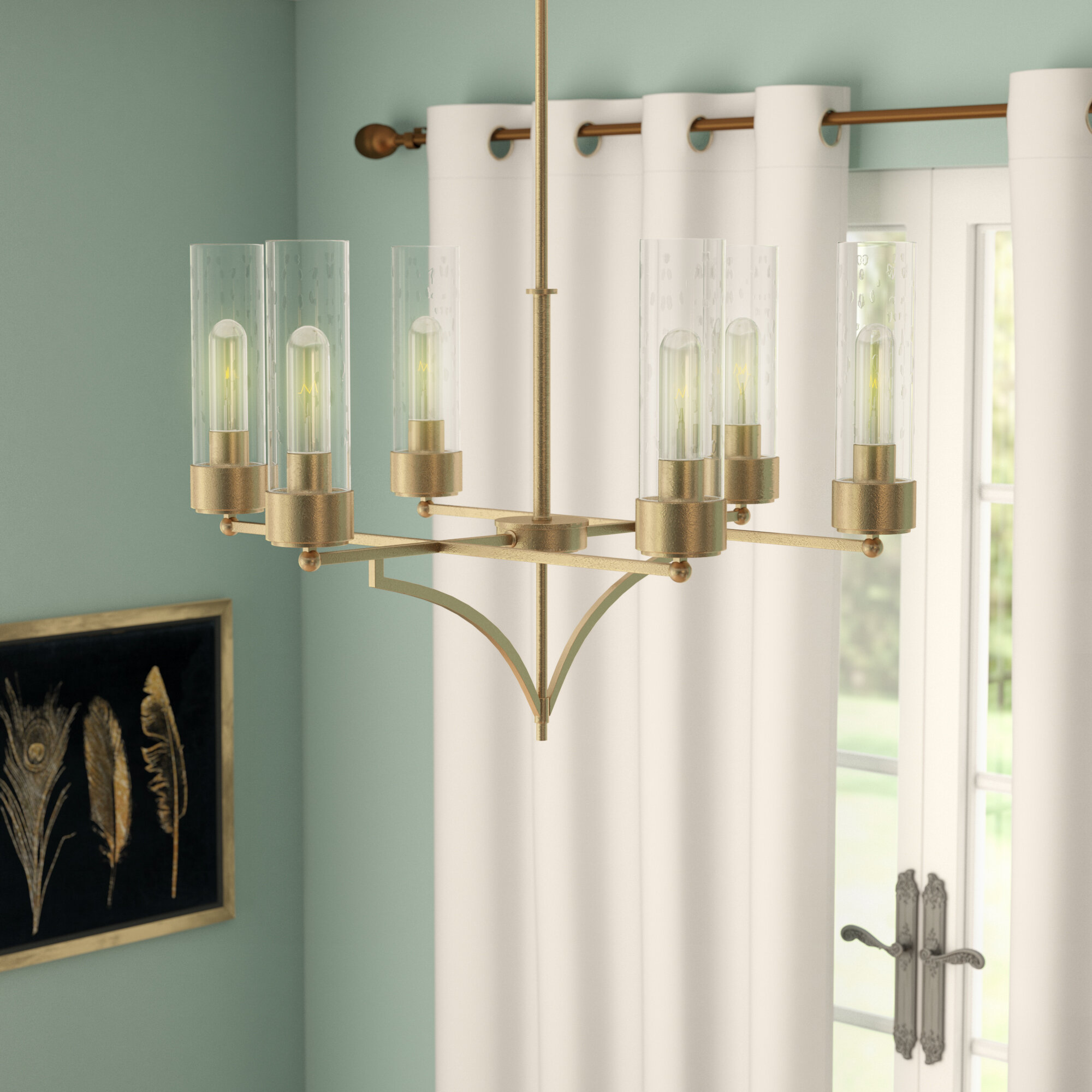 Everly quinn ozella 6 light shaded chandelier reviews wayfair
